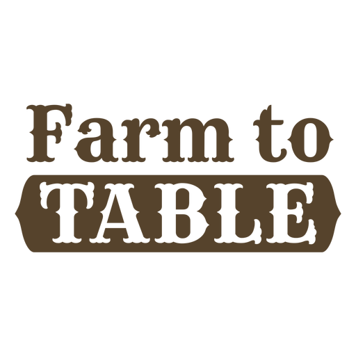 Farm to table flat label