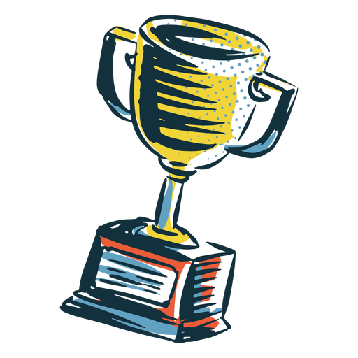 Sports trophy cup hand drawn