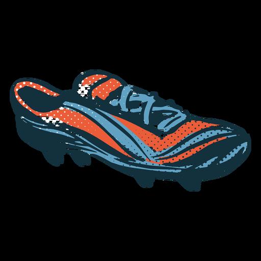 Soccer football shoe hand drawn sneaker