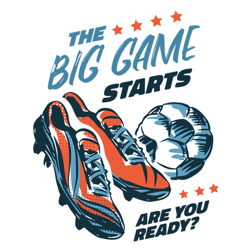 Soccer shoes and ball badge hand drawn