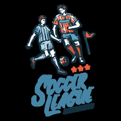 Soccer league badge hand drawn