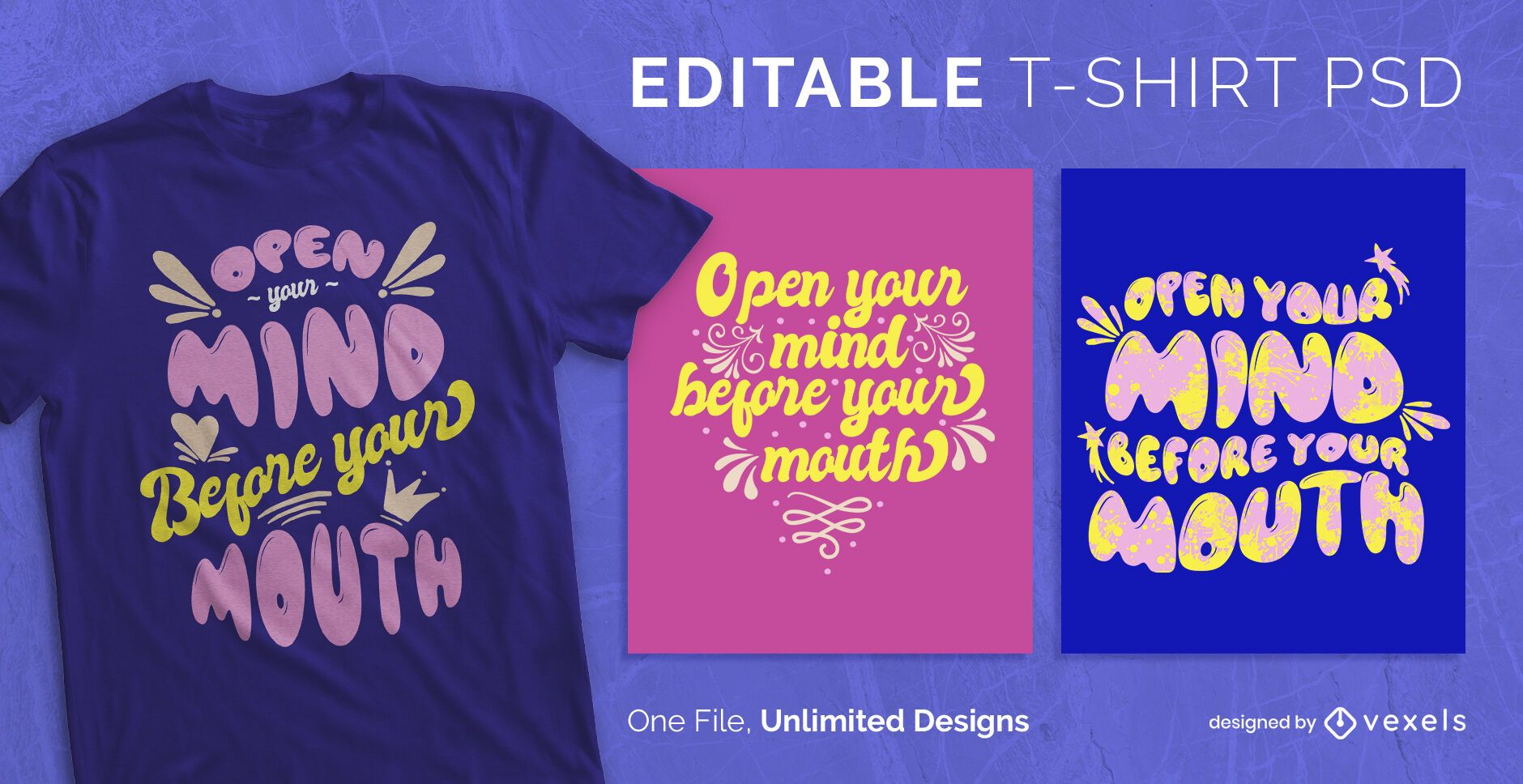 Lettering ornaments scalable t-shirt psd
