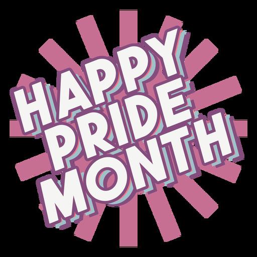 Happy pride month quote semi flat