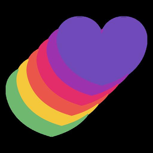 Pride hearts flat