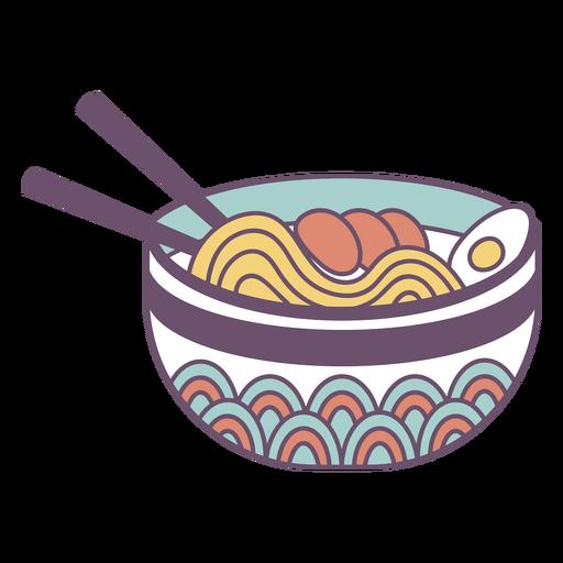 Ramen japanese food with chopsticks