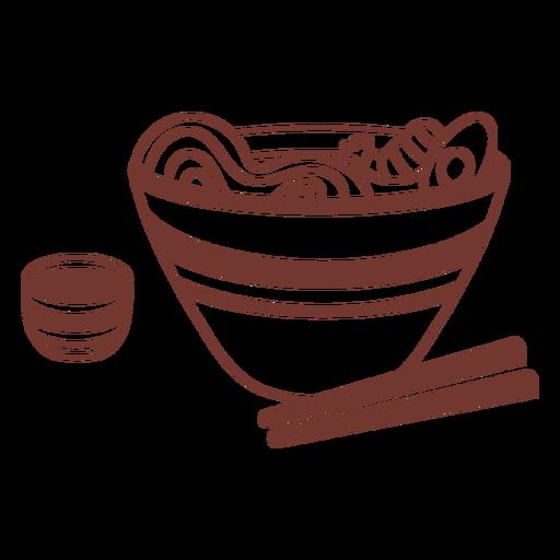 Ramen japanese dish with chopsticks