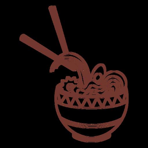 Ramen japanese food and chopsticks