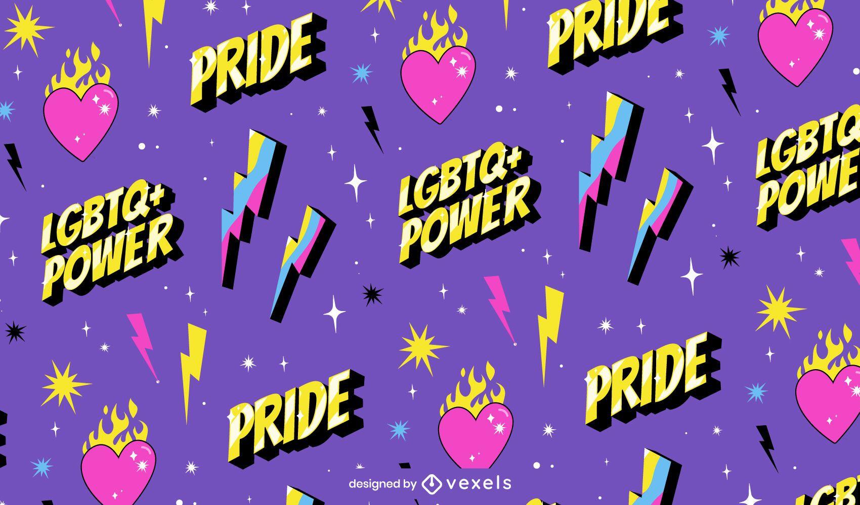 Pride month lgbt quote pattern design