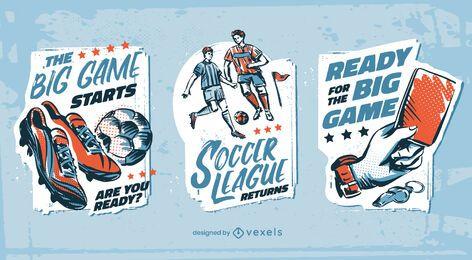 Soccer football badges sport set