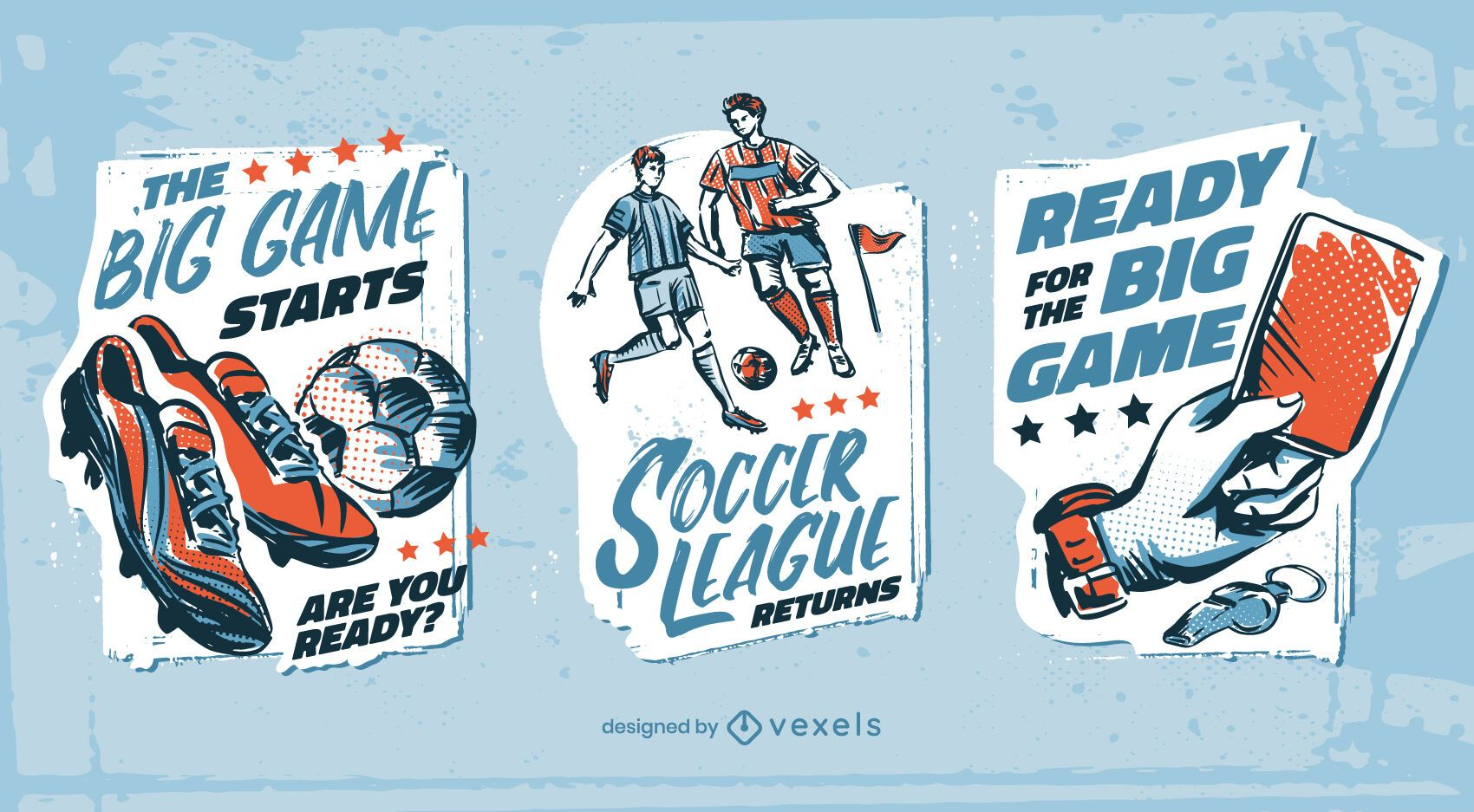 Conjunto de deporte de insignias de fútbol soccer