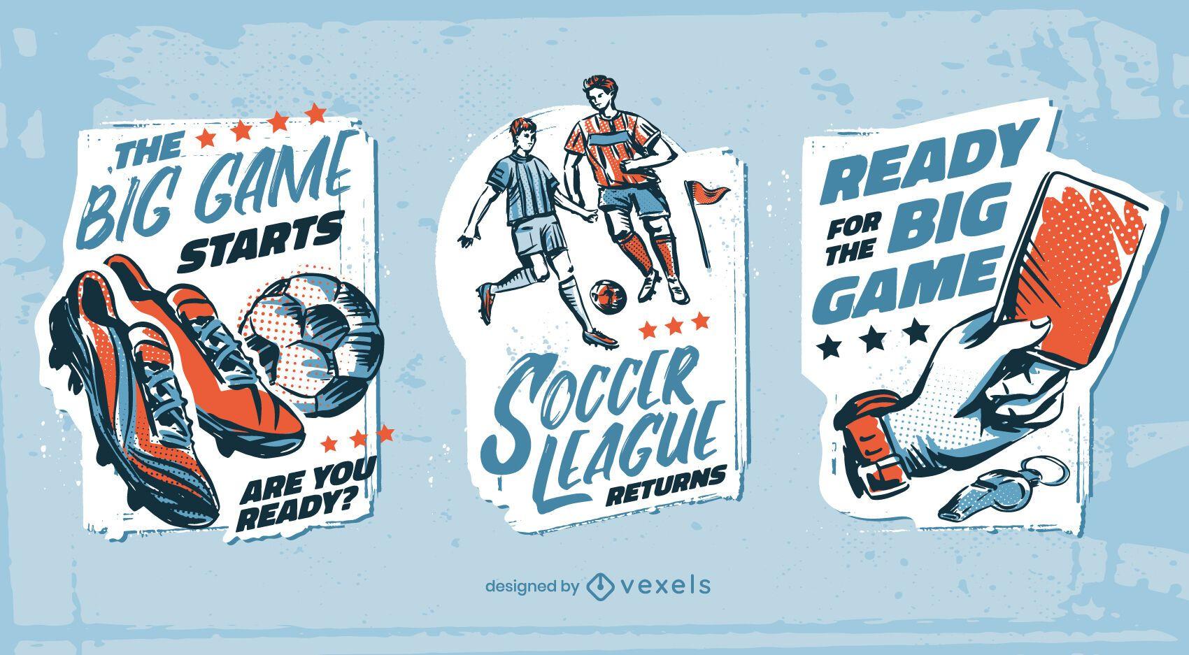 Conjunto de emblemas de futebol de futebol