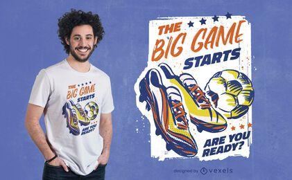 Diseño de camiseta de zapatos de fútbol deportivo de fútbol.