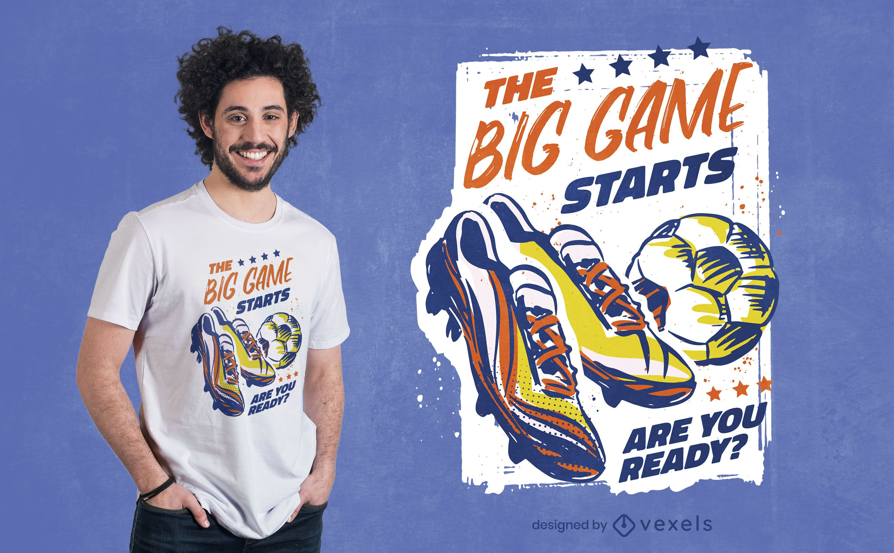 Soccer sport football shoes t-shirt design