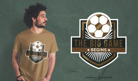 Design de t-shirt do emblema do esporte para jogo de futebol