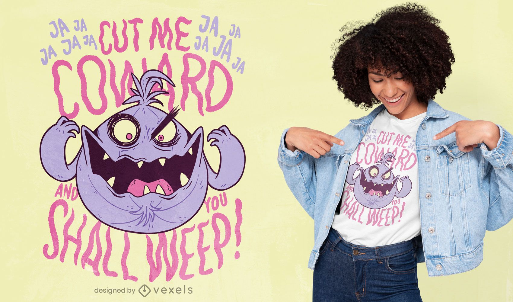 Evil onion quote cartoon t-shirt design