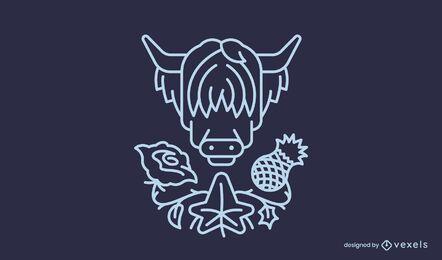 Design de logotipo comercial de flores da natureza