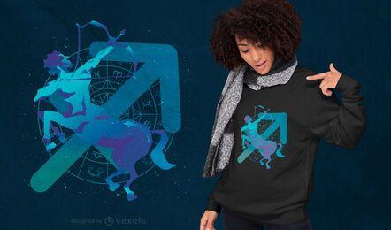 Zodiac Sagittarius gradient t-shirt design