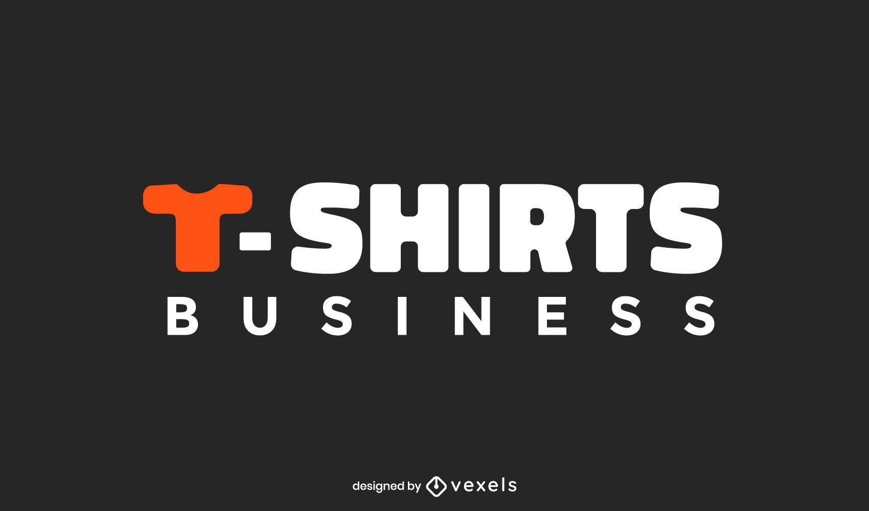 Design de logotipo comercial de camisetas