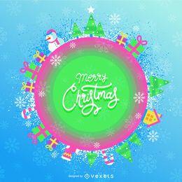 Linda bandera de Navidad de color caramelo