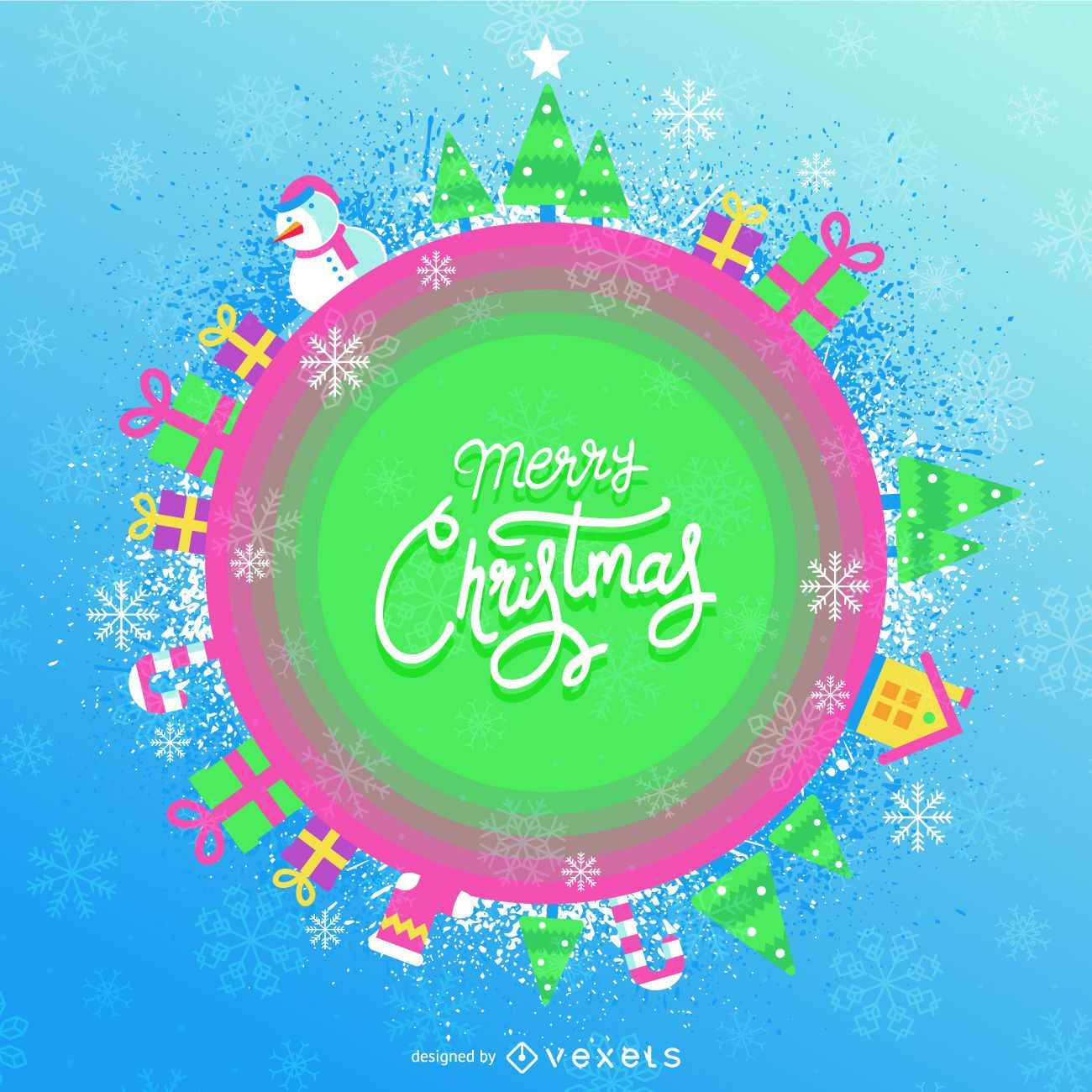 Lindo banner navideño color caramelo
