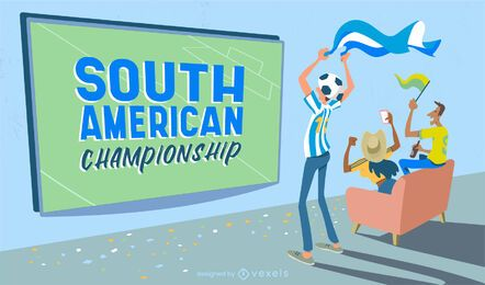 Control deslizante del campeonato de fútbol de américa del sur