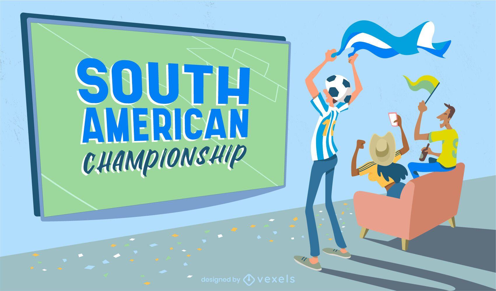 Controle deslizante do campeonato de futebol da américa do sul