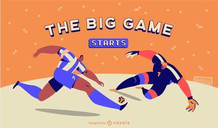 Controle deslizante de jogo de esporte para jogadores de futebol