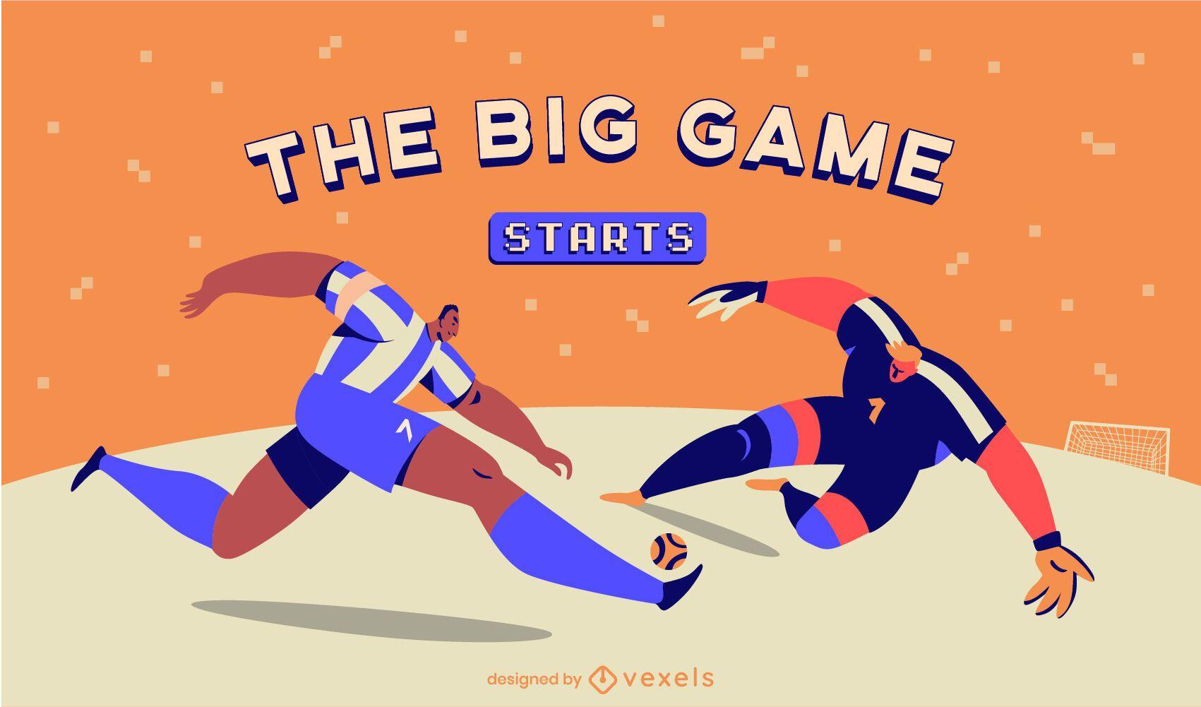 Control deslizante del juego deportivo de jugadores de fútbol