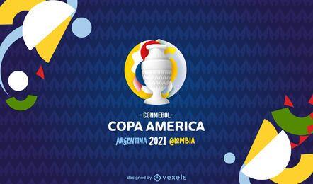 Diseño de fondo copa américa 2021