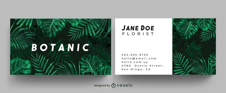 Botanical jungle business card design