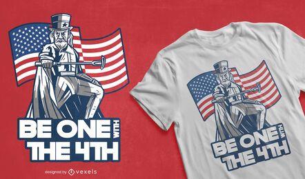 Diseño de camiseta de parodia del día de la independencia.