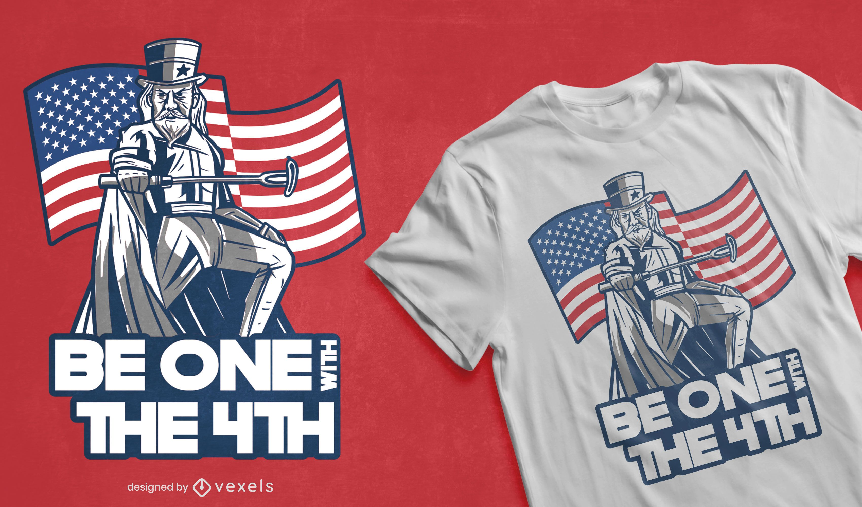 Design de t-shirt paródia do Dia da Independência