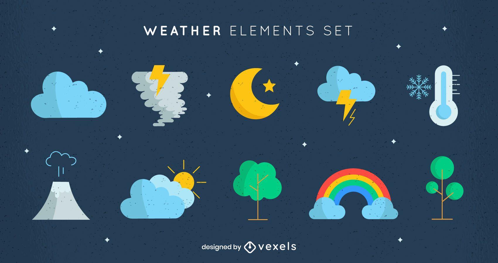 Tipos de elementos de la naturaleza climática.