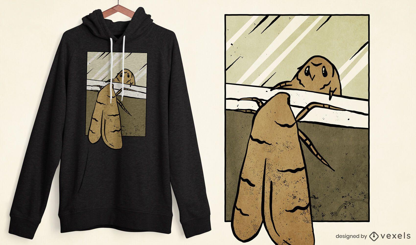 Design de t-shirt do Mirror Moth meme