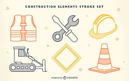 Construction elements job stroke set