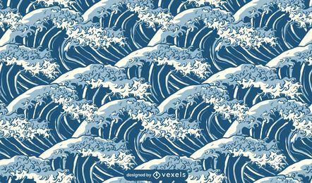 Diseño de patrón de naturaleza de onda oceánica