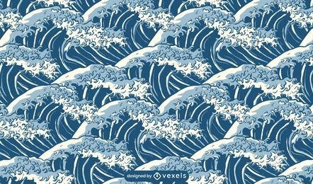 Projeto de padrão de ondas do mar