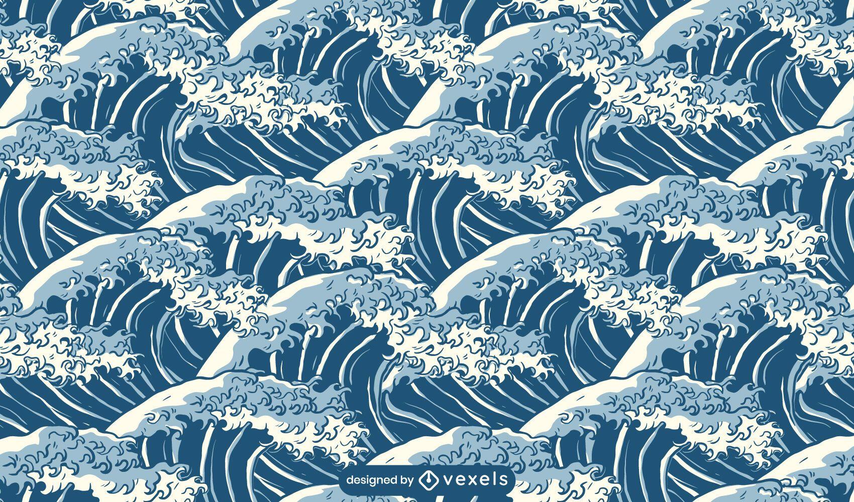 Ocean wave nature pattern design