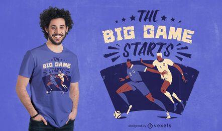 Diseño de camiseta de juego deportivo de jugadores de fútbol.