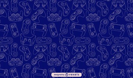 Joystick video game line art pattern design