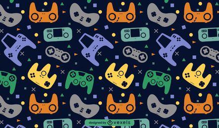 Design de padrão de videogame joystick