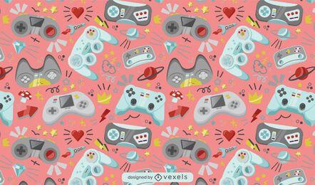 Diseño de patrón de consola de videojuegos con joystick