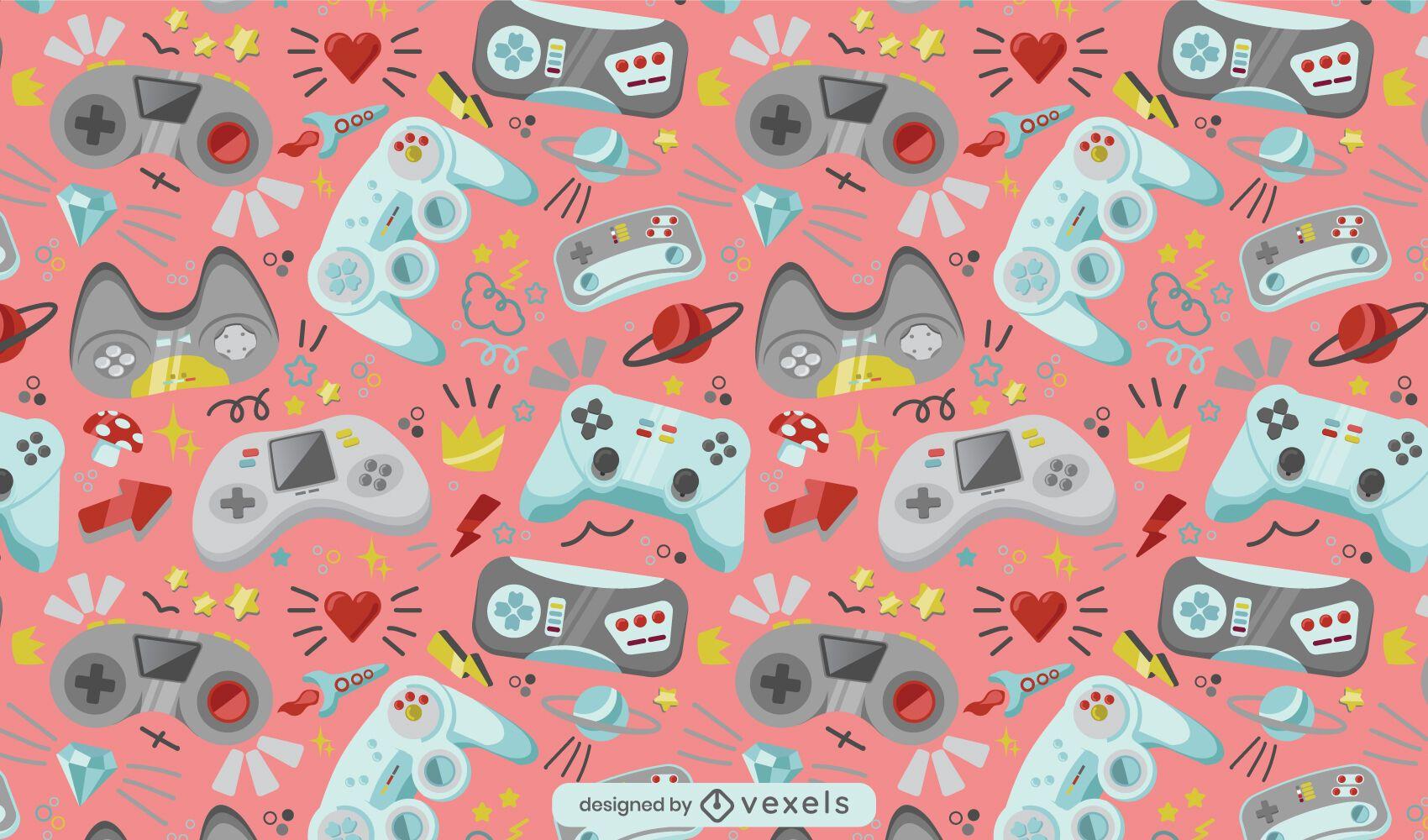 Design de padrão de console de videogame joystick