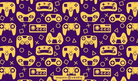 Diseño de patrón de pasatiempo de consola de videojuegos