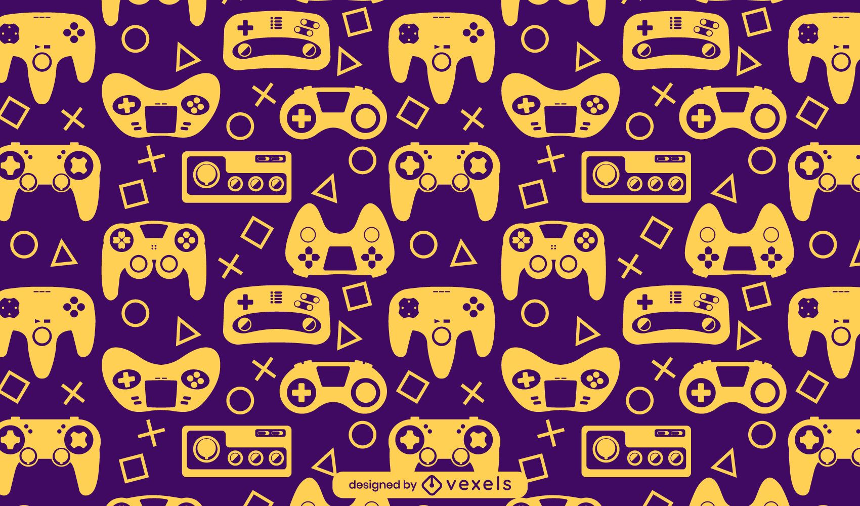 Video game console hobby pattern design