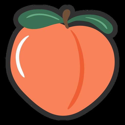 Pretty peach color stroke