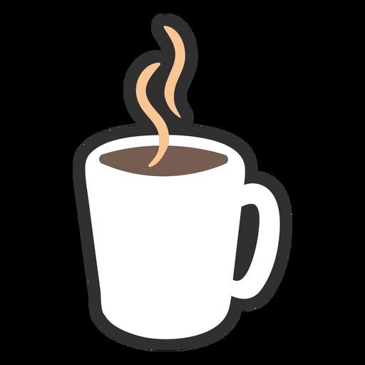 Hot coffee color stroke