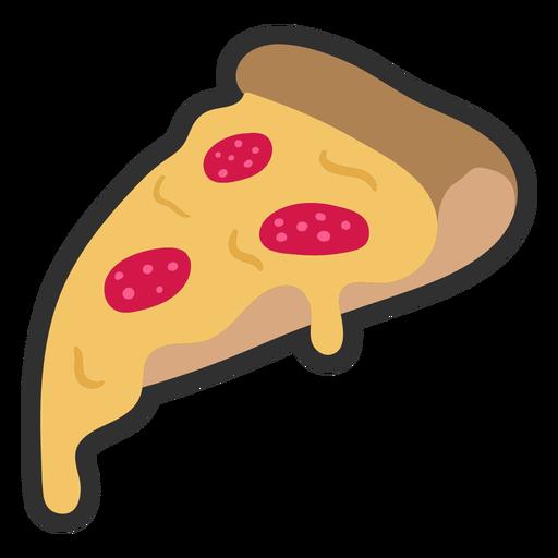 Pizza color stroke