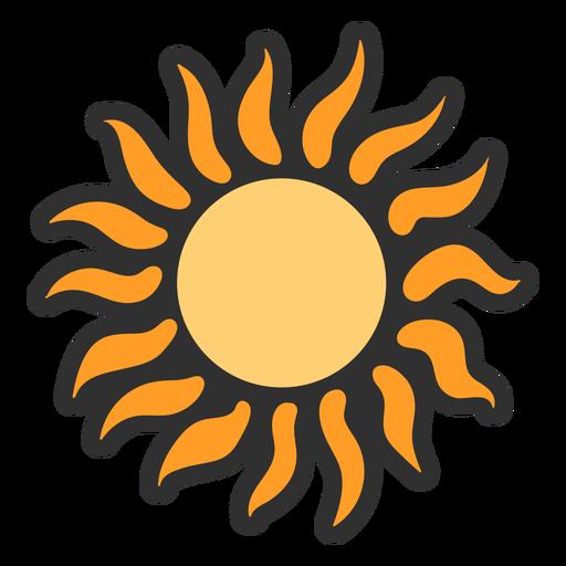 Pretty sun color stroke