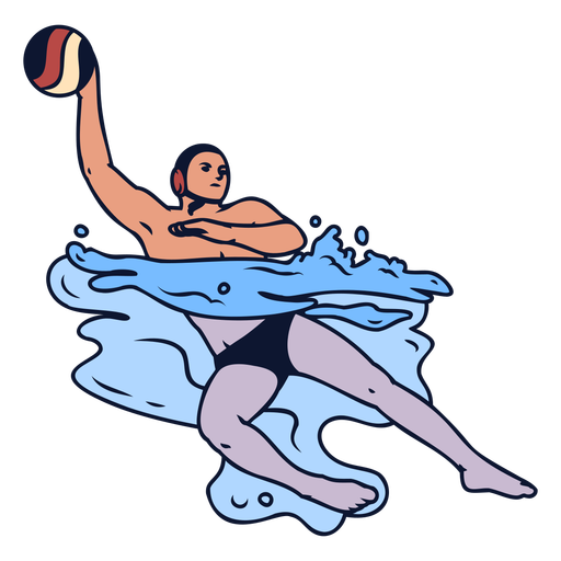 Waterpolo sport player swimming